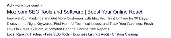 Moz following up with paid search offer -1