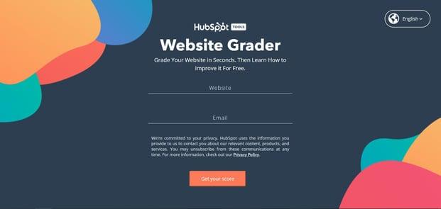 Website grader HubSpot