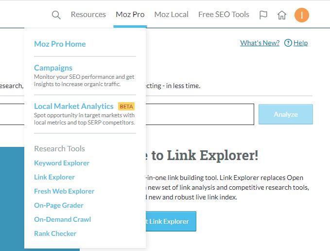 Moz Pro to Link Explorer